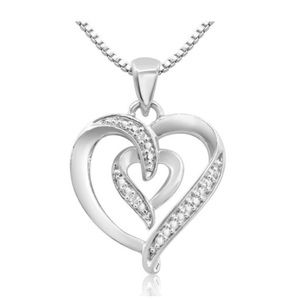 Jewelry - 💗Diamond Accent Heart Necklace